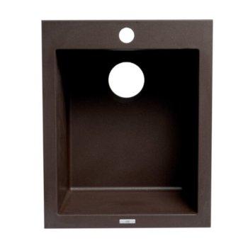 "ALFI brand 17"" Drop-In Rectangular Granite Composite Kitchen Prep Sink in Chocolate, 16-1/8"" W x 19-7/8"" D x 8-1/4"" H"