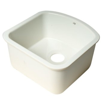 17\'\' or 24\'\' Wide Fireclay Undermount D-Shaped Kitchen Sink ...