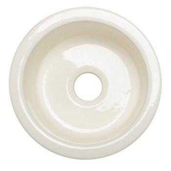 "Alfi brand Round 17"" Fireclay Prep Sink, 17-3/4"" Diameter x 7-5/8"" H"