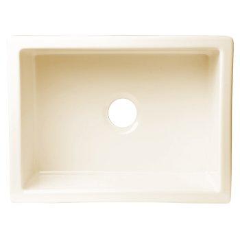 """Alfi brand 24"""" x 18"""" Undermount Biscuit Fireclay Kitchen Sink, 24"""" W x 18"""" D x 10"""" H"""