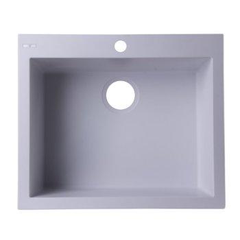 """Alfi brand White 24"""" Drop-In Single Bowl Granite Composite Kitchen Sink, 23-5/8"""" W x 20-1/8"""" D x 8-1/4"""" H"""