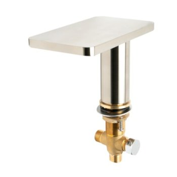 Brushed Nickel Spout Angle View