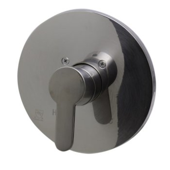 """Alfi brand Brushed Nickel Shower Valve Mixer with Rounded Lever Handle, 7-1/8"""" Diameter x 3"""" H"""
