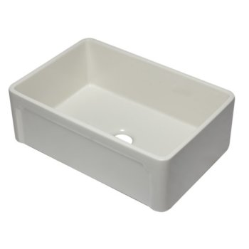 "Alfi brand 30"" Biscuit Reversible Single Fireclay Farmhouse Kitchen Sink, 29-3/4"" W x 20-7/8"" D x 9-7/8"" H"