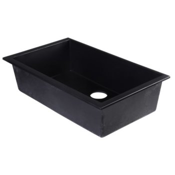 30 W Undermount Single Bowl Granite Composite Kitchen Sink In Biscuit Black White Chocolate Or Titanium Finish By Alfi Brand Kitchensource Com
