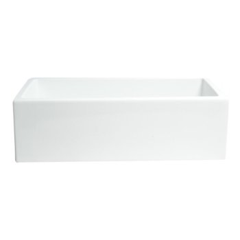 """33"""" x 18"""" White Smooth Front View"""