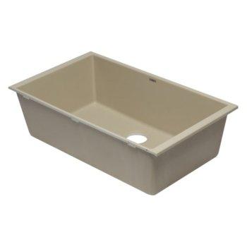 """Alfi brand Biscuit 33"""" Single Bowl Undermount Granite Composite Kitchen Sink, 33"""" W x 19-3/8"""" D x 9-1/2"""" H"""