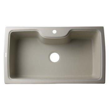 "Alfi brand Biscuit 35"" Drop-In Single Bowl Granite Composite Kitchen Sink, 34-5/8"" W x 19-11/16"" D x 9-1/8"" H"