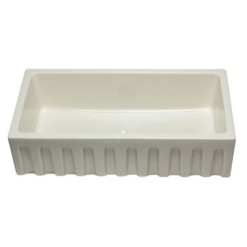 """36"""" Biscuit Smooth / Fluted Single Bowl Sink"""