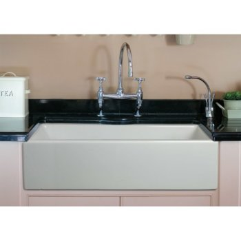 """36"""" White Smooth / Fluted Single Bowl Sink"""