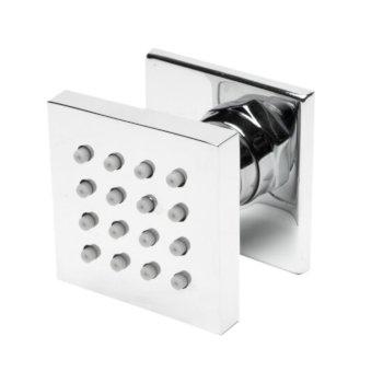 "ALFI brand 2"" Square Adjustable Shower Body Spray in Polished Chrome, 2"" W x 1-3/4"" D x 2"" H"