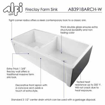 White Arched Apron Details