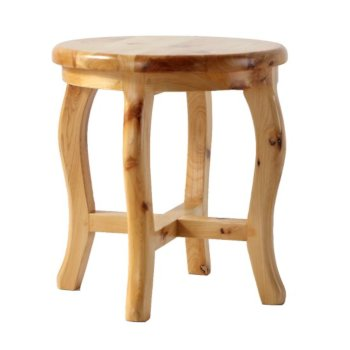 "ALFI brand 11"" Cedar Wood Round  Stool Multi-Purpose Accessory in Natural Wood"