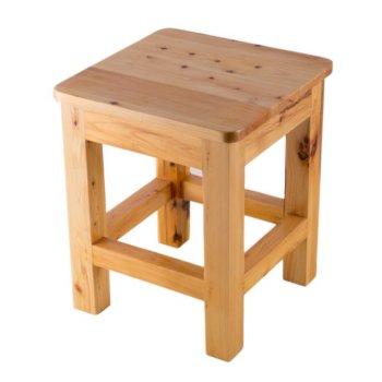 """Alfi brand 10""""x10"""" Square Wooden Bench/Stool Multi-Purpose Accessory, 9-7/8"""" W x 9-7/8"""" D x 11-3/4"""" H"""