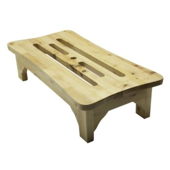"Alfi brand 24'' Wooden Stool for your Wooden Tub, 24"" W x 12"" D x 6"" H"