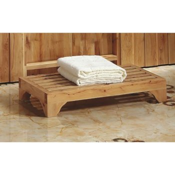 "Alfi brand 4"" Modern Wooden Stepping Stool  Multi-Purpose Accessory, 23-5/8"" W x 11-3/4"" D x 4"" H"