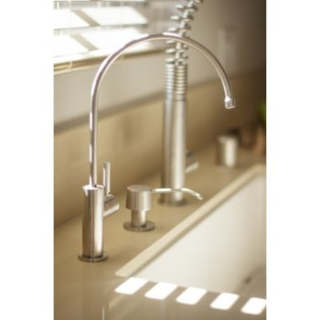 "Alfi brand Solid Brushed Stainless Steel Modern Soap Dispenser, 2-1/2"" H"