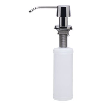 "Alfi brand Solid Polished Stainless Steel Modern Soap Dispenser, 2-1/2"" H"