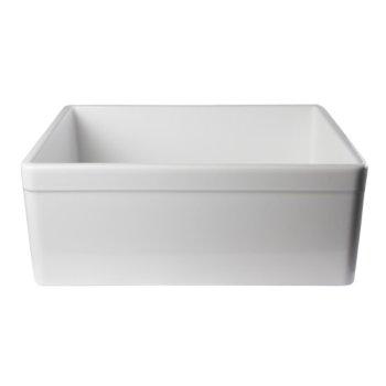 "Alfi brand White 26"" Decorative Lip Apron Single Bowl Fireclay Farmhouse Kitchen Sink, 26"" W x 20"" D x 10"" H"