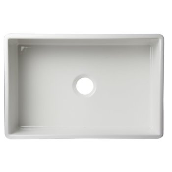 """30"""" White Smooth Apron Product View - 4"""