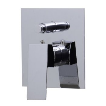 """Alfi brand Polished Chrome Shower Valve Mixer with Square Lever Handle and Diverter, 5-1/8"""" W x 7-1/4"""" D x 2"""" H"""