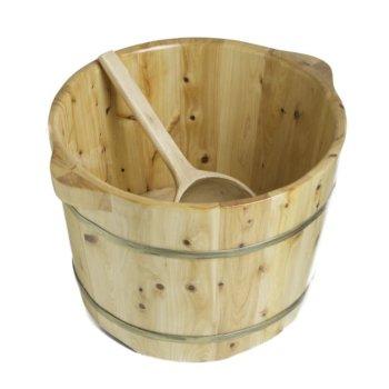 Round Cedar Foot Soaking Tub