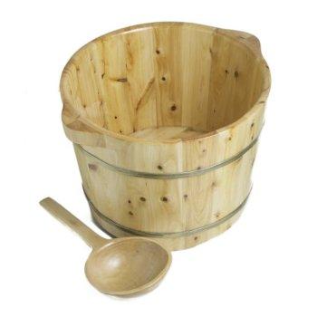 Cedar Foot Soaking Tub Included Items