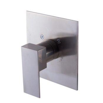 "Alfi brand Brushed Nickel Modern Square Pressure Balanced Shower Mixer, 5-3/4"" W x 6-5/16"" D x 3-1/2"" H"