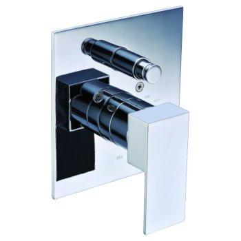 "Alfi brand Polished Chrome Modern Square Pressure Balanced Shower Mixer with Diverter, 5-3/4"" W x 7-1/2"" D x 3"" H"