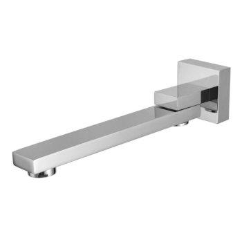 "ALFI brand Square Foldable Tub Spout in Polished Chrome, 2-3/8"" W x 10-1/4"" D x 2-3/8"" H"