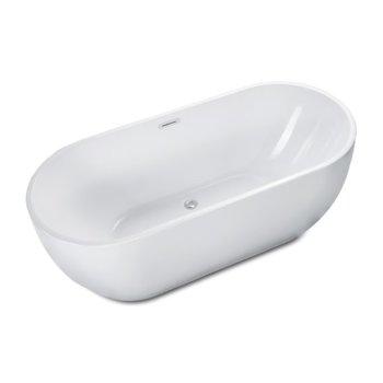 Soaking Bathtub Overhead Angle View