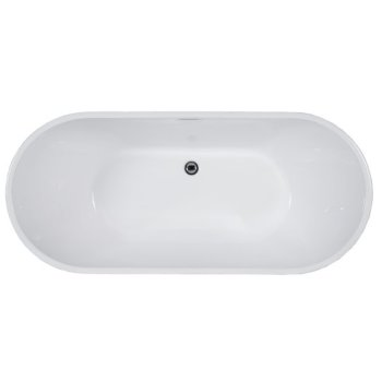 Soaking Bathtub Overhead View