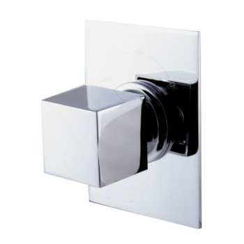 "Alfi brand Polished Chrome Modern Square 3 Way Shower Diverter, 3-3/4"" W x 5-1/8"" D x 2-1/2"" H"