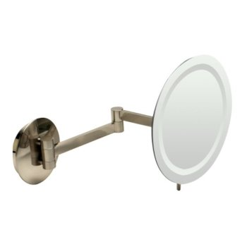 """9"""" Brushed Nickel Angle View"""