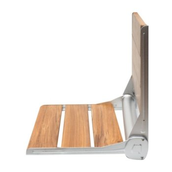 "ALFI ABS16R-BN Brushed Nickel 16/"" Folding Teak Wood Shower Seat Bench"