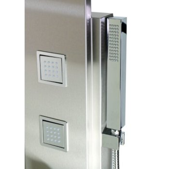 Brushed Stainless Steel Handheld Showerhead View