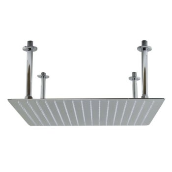 """Alfi brand 20"""" Square Polished Solid Stainless Steel Ultra Thin Rain Shower Head, 20"""" W x 20"""" D x 1/8"""" H"""