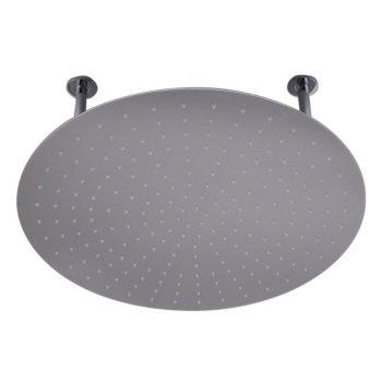 "Alfi brand 24"" Round Brushed Solid Stainless Steel Ultra Thin Rain Shower Head, 24"" Diameter x 1/8"" H"