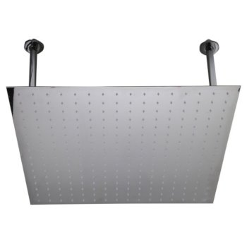 """Alfi brand 24"""" Square Polished Solid Stainless Steel Ultra Thin Rain Shower Head, 24"""" W x 24"""" D x 1/8"""" H"""