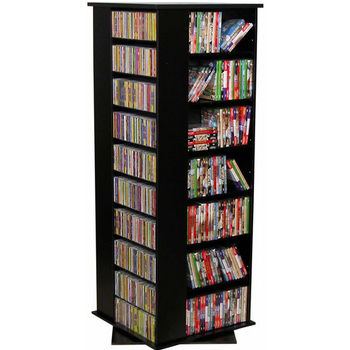 Ordinaire American Furnishings Revolving Media Tower Grande, Black
