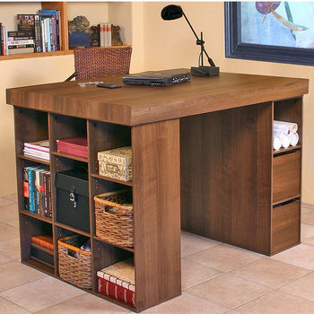 American Furnihsings Project Centers with 1 Bookcase and a 3 Bin Cabinet
