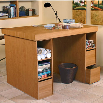 American Furnishings Project Centers with 2-3 Bin Cabinets