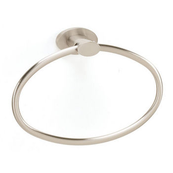 Alno Towel Ring, Satin Nickel