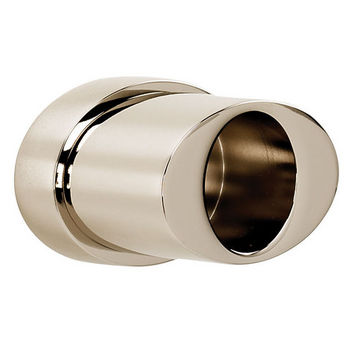 Alno Shower Rod Brackets, Pair, Satin Nickel