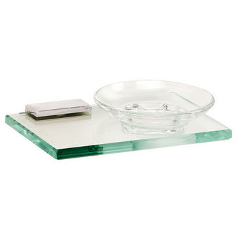 Alno Arch Series Soap Holder w/ Glass Dish, Polished Chrome