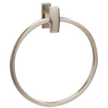Alno Arch Series Towel Ring, Satin Nickel