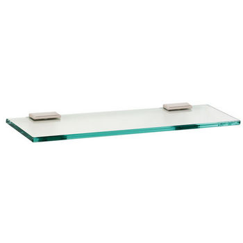 "Alno Arch Series 18"" Glass Shelf with Brackets, Polished Nickel"