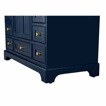 Heritage Blue / Italian Carrara Top / Gold Hardware - Close-Up - Bottom
