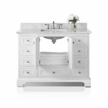 White / Italian Carrara Top - Front Open