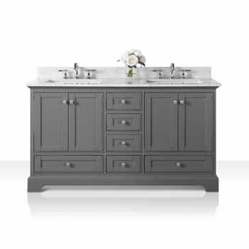 60'' - Sapphire Gray / Italian Carrara Top - Display View